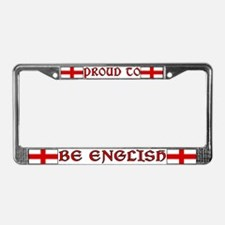 Proud to be English 2 License Plate Frame