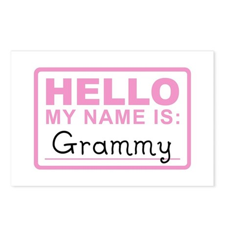 Grammy Nametag - Postcards (Package of 8)