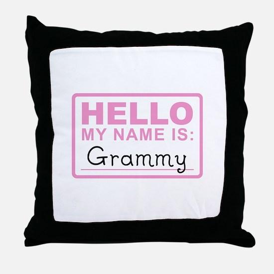 Grammy Nametag - Throw Pillow
