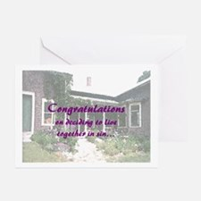 Living In Sin Greeting Cards (Pk of 10)