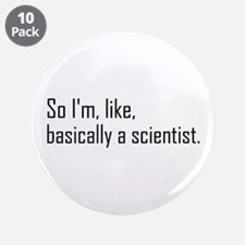 """Scientist 3.5"""" Button (10 pack)"""