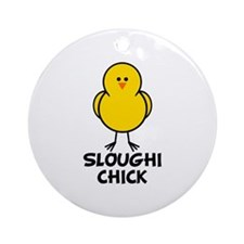 Sloughi Chick Ornament (Round)