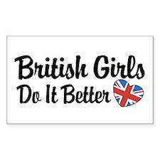 British Girls Do It Better Rectangle Decal