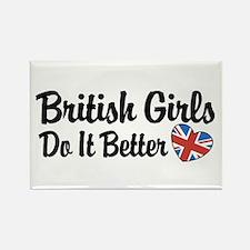 British Girls Do It Better Rectangle Magnet