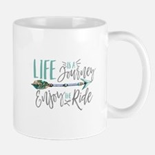 Bohemian Typography Life Is A journey Mugs