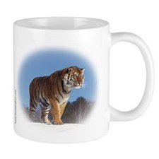 """Tiger in the Snow - B1"" Mug"
