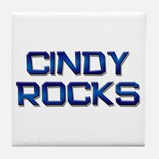 cindy rocks Tile Coaster