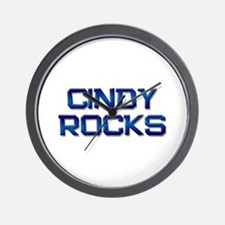 cindy rocks Wall Clock