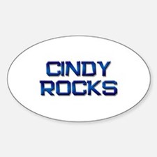 cindy rocks Oval Decal