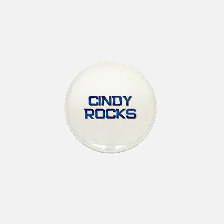 cindy rocks Mini Button