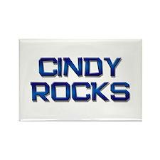 cindy rocks Rectangle Magnet