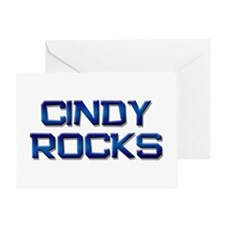 cindy rocks Greeting Card