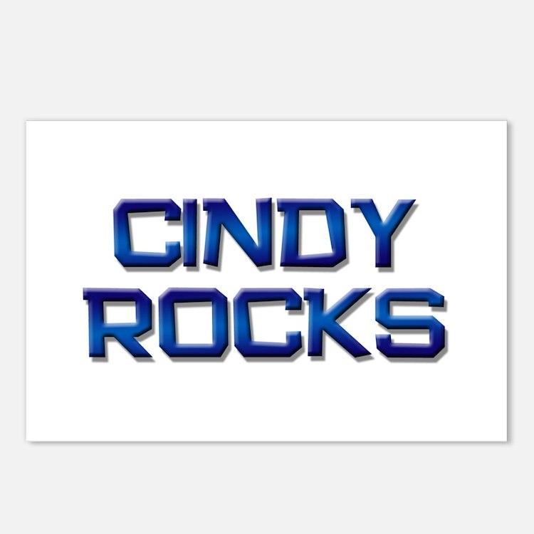cindy rocks Postcards (Package of 8)