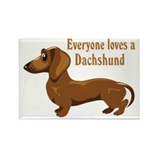 Everyone Loves A Dachshund Rectangle Magnet (100 p