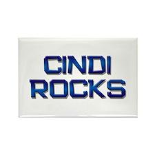 cindi rocks Rectangle Magnet