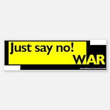 NO WAR Bumper Bumper Bumper Sticker