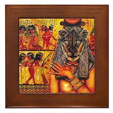 Cute African Framed Tile