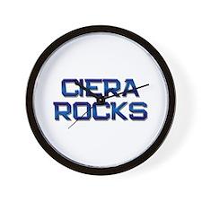 ciera rocks Wall Clock