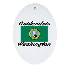 Goldendale Washington Oval Ornament