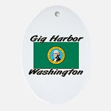 Gig Harbor Washington Oval Ornament