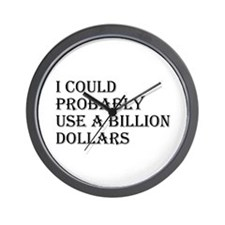 Million Dollars Wall Clock