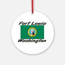 Fort Lewis Washington Ornament (Round)