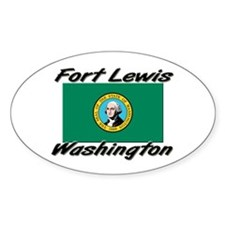 Fort Lewis Washington Oval Decal