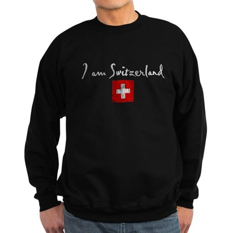 I am Switzerland Distressed Sweatshirt (dark)