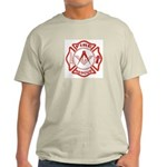 Masonic Fire & Rescue (Full) Ash Grey T-Shirt