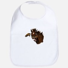 Horse and Bee Expressions Bib