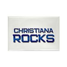 christiana rocks Rectangle Magnet