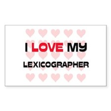 I Love My Lexicographer Rectangle Decal