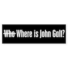 Who Where is John Galt Bumper Car Sticker