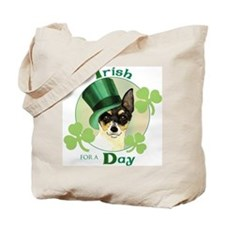 St. Patrick Toy Fox Terrier Tote Bag