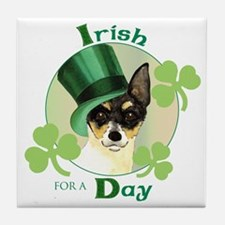 St. Patrick Toy Fox Terrier Tile Coaster