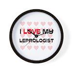 I Love My Leprologist Wall Clock