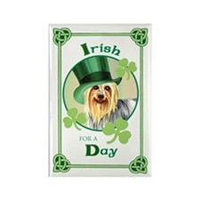 St. Patrick Silky Terrier Rectangle Magnet (10 pac