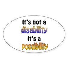 Possibility Oval Decal