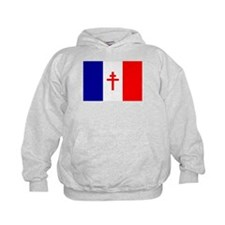 Free French Forces Flag Hoodie