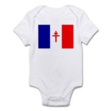Free French Forces Flag Infant Bodysuit