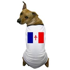 Free French Forces Flag Dog T-Shirt