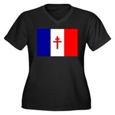 Free French Forces Flag Women's Plus Size V-Neck D