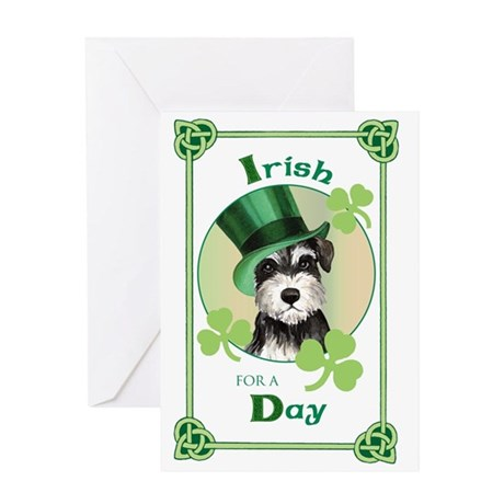 St. Patrick Miniature Schnauzer Greeting Card