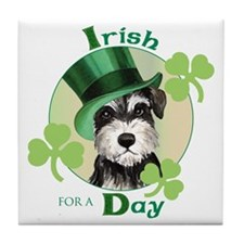 St. Patrick Miniature Schnauzer Tile Coaster