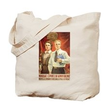 Lenin an Stalin Tote Bag