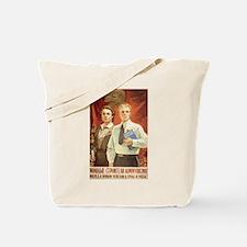 Lenin an Stalin Tote Bag