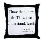 Aristotle 15 Throw Pillow