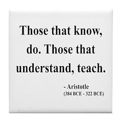 Aristotle 15 Tile Coaster