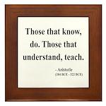 Aristotle 15 Framed Tile