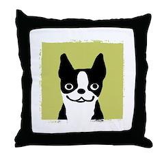 Boston Terrier Smile Throw Pillow